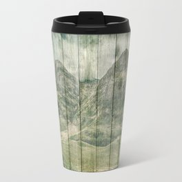 Rustic Country Wood Mountains Landscape Travel Mug