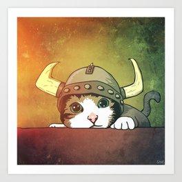 Viking Kitty Art Print