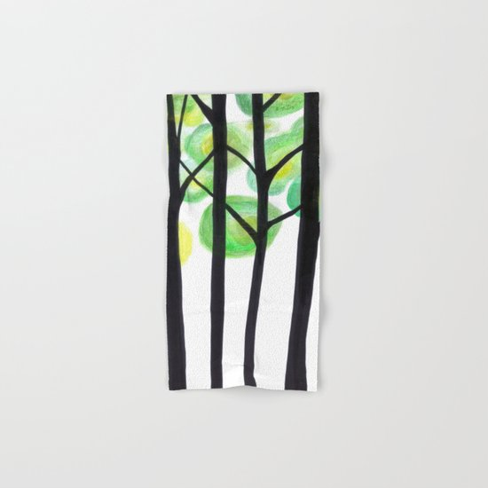 blacks trees Hand & Bath Towel