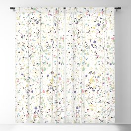 Classy vintage marble terrazzo pastel abstract design Blackout Curtain