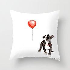Boston vs. balloon Throw Pillow