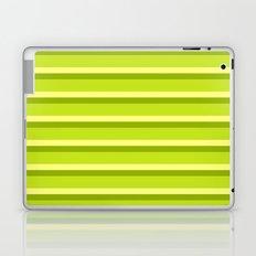 Lime Green Stripes Laptop & iPad Skin