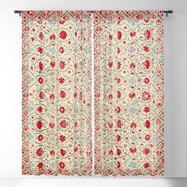 Nurata Suzani Uzbekistan Embroidery Print Blackout Curtain