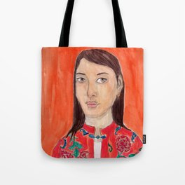 Lady with a chinese tunic Tote Bag