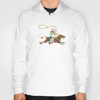 cowboy Hoodies featuring Cowboy by Design4u Studio