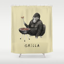 Grilla Shower Curtain