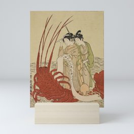 Lovers and a literate octopus by Ippitsusai Buncho Mini Art Print
