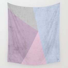 Cold Tones Geometry Wall Tapestry
