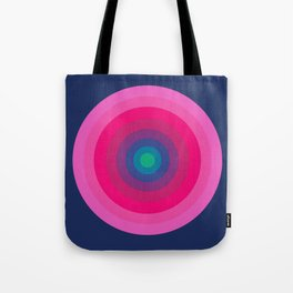 Blue & Pink Retro Bullseye Tote Bag