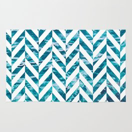 Watercolor Herringbone Rug
