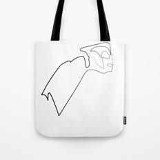 One line Rocketeer Tote Bag