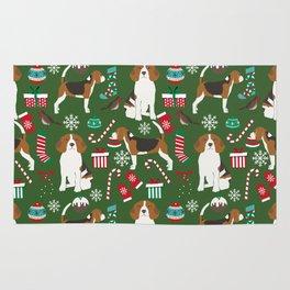 Beagle christmas dog print cute beagle christmas print love beagles Rug