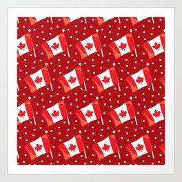 Canada Neck Gaiter Beaver Maple Leaf Canadian Flag Neck Gator Art Print