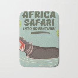 Africa Safari Hippo vintage print Bath Mat