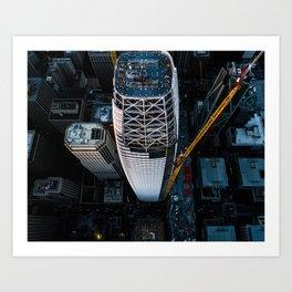 Salesforce Tower at Sunset Art Print