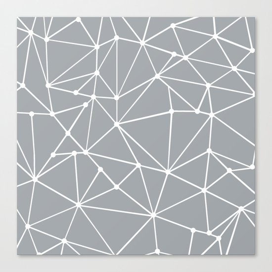 Ab Out Spots Grey Canvas Print