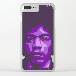 Purple Haze Clear iPhone Case
