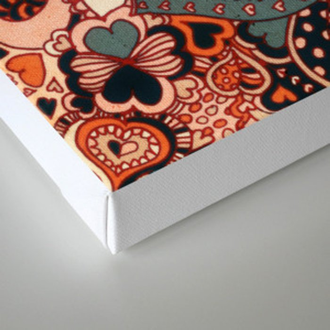 Doodle hearts Canvas Print