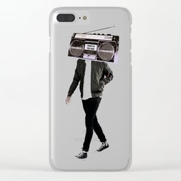 Pump Up The Jamz Clear iPhone Case