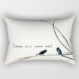 BIRDS. COME FLY WITH ME Rectangular Pillow