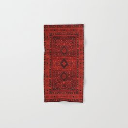 Red Traditional Oriental Moroccan & Ottoman Style Artwork. Hand & Bath Towel