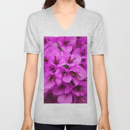 Mystic Violet Bougainvillea Flower Unisex V-Neck