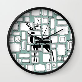 Hidden Deer Wall Clock