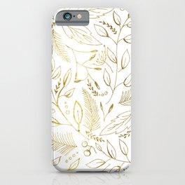 Holiday golden iPhone Case
