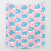 cupcake Wall Tapestries featuring Cupcake by Inbeeswax