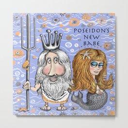 Poseidon's New Mermaid Babe Metal Print