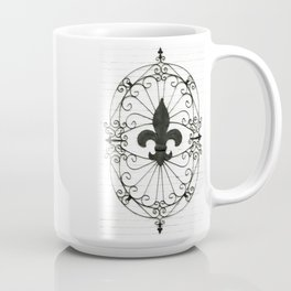 Wrought Iron Fleur de Lis Coffee Mug