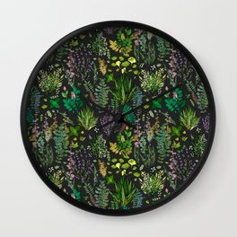 Aromatic Garden for Health and Well Being Wall Clock