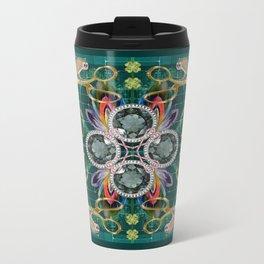 Four of Pentacles Metal Travel Mug