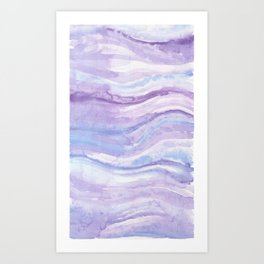 Abstract textile Art Print