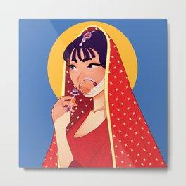 Beautiful Sari Bride Metal Print