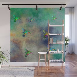 Secret Escape Hummingbird Design Wall Mural