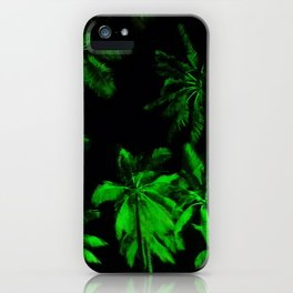 Night green palm trees iPhone Case