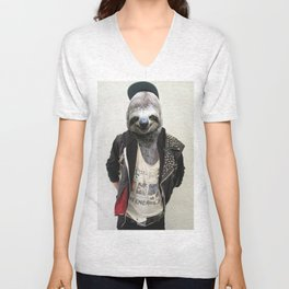 Punk Sloth Unisex V-Neck