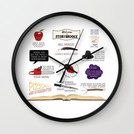 Once Upon a Time Quotes Wall Clock
