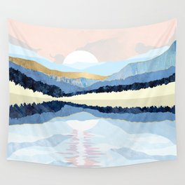 Winter Reflection Wall Tapestry