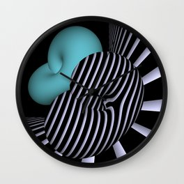 Klein's bottle in Op-Art design Wall Clock