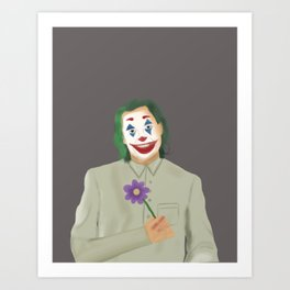 Happy Joker Art Print
