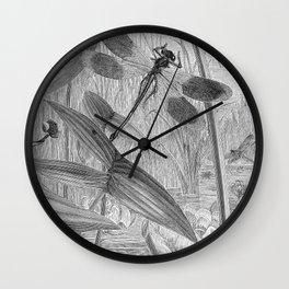 Dragonfly Wasserjungfern Line Art Wall Clock