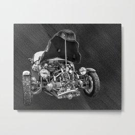 Vintage Cycle Car Metal Print