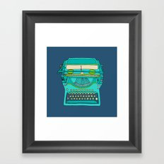 Typewriter Number Five Framed Art Print