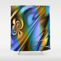 patrick Shower Curtains featuring St Patrick by Robin Curtiss