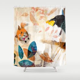 The Raven nad the Fox Shower Curtain