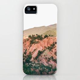 Orange mountains of Ourika Morocco   Atlas Mountains near Marrakech iPhone Case