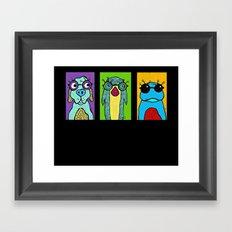 Guys with Glasses Framed Art Print
