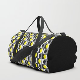 Geometric Pattern 216 (yellow gray curves) Duffle Bag